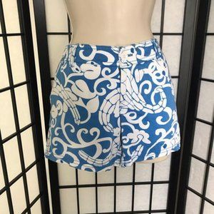 Lilly Pulitzer Floral Shorts Blue XS XSmall 0